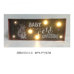 Baby it's cold outside  iron Wall Decorations christmas Sign Plaque