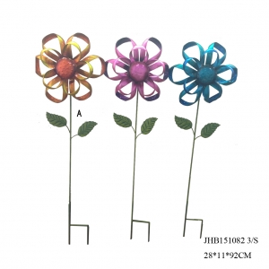 Metal Flower Decoration Garden Stakes